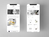 Jewellery mobile app design