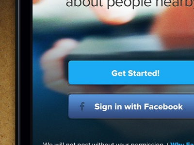 Get Started app ui iphone logo blue button sign in