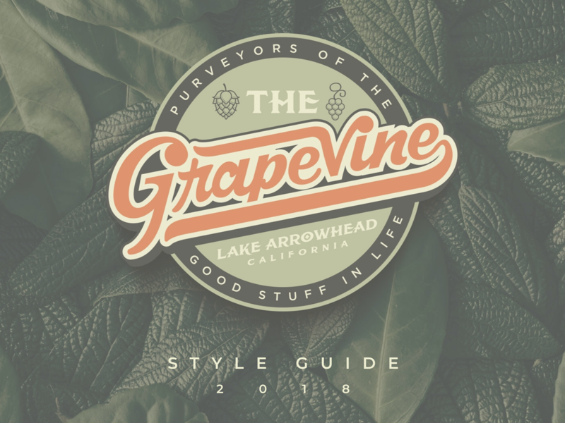 The Grapevine Brand Build identity logo brand