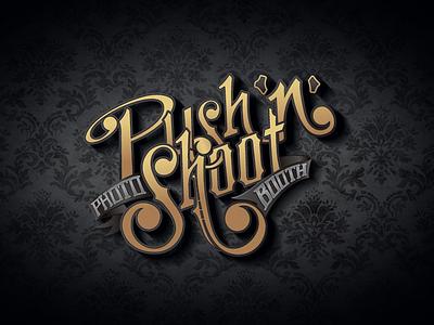 Push 'n' Shoot Logo design branding logo hand lettering