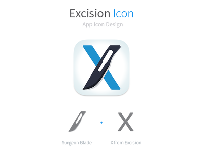 Excision For Dribbble excision doctors medical surgeon app icon ios andriod