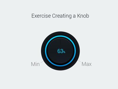 Volume Knob volume knob design ui course psd glow blue knob