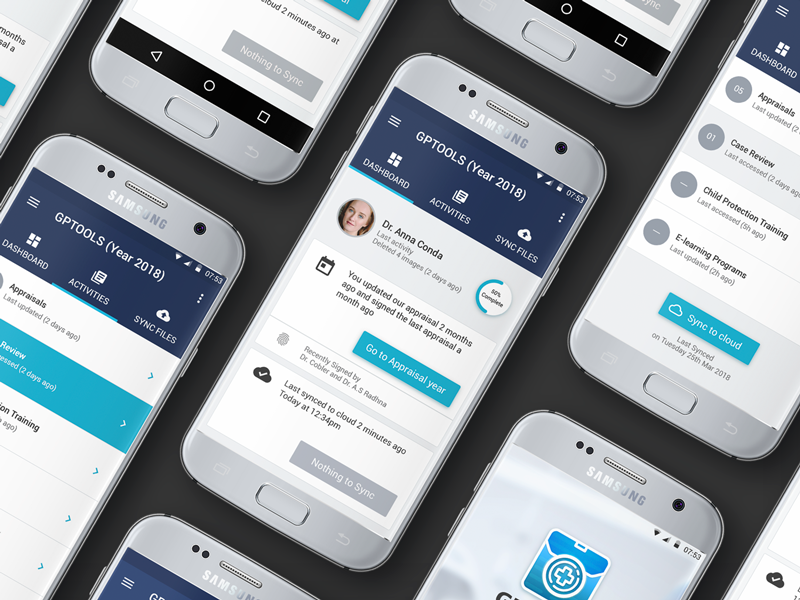 Android Medical App with Adobe XD adobe xd android app blue purple doctor app medical app