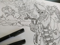 Sea of Ghouls [WIP] halloween pirate design art drawing character illustraion