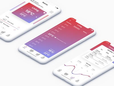Daikin gradient web mobile design ui ux graphic design