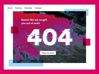 Daily UI #008 - 404 page blue red error 404 daily ui dailyui
