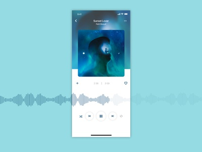 Daily UI #009 - Music player iphonex iphone play blue music player player music daily ui dailyui