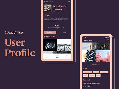 #DailyUIChallenge 006 - User Profile mobile app design design app mobile design mobile uidesign ui user profile profile user dailyuichallenge dailyui 006 daily ui