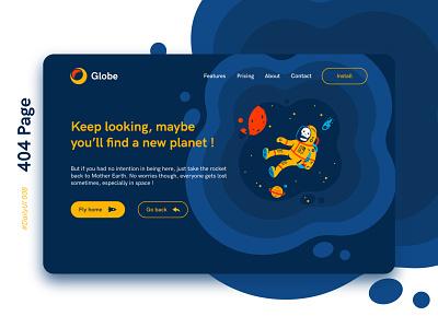#DailyUIChallenge 008 - 404 Page 404 error page page design webdesign design ui uidesign page not found 404 error 404 dailyui 008 dailyuichallenge dailyui