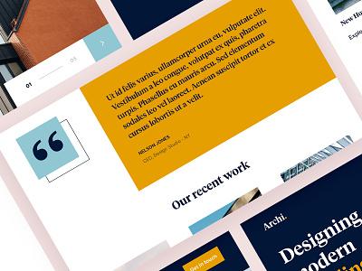 #DailyUIChallenge 039 - Testimonials uidesign webdesign landing page design architecture architects landing page testimonials dailyui 039 dailyuichallenge dailyui