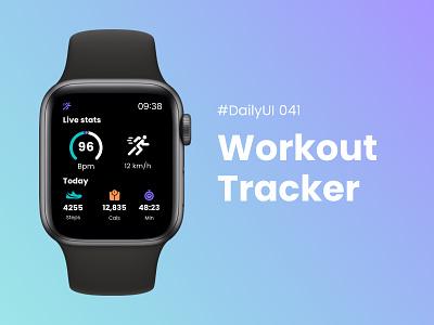 #DailyUIChallenge 041 - Workout Tracker tracker workout tracker apple watch design apple watch running app workout dailyui 041 dailyuichallenge dailyui