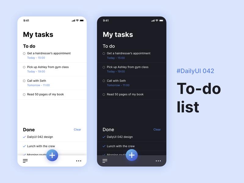 #DailyUIChallenge 042 - To-do list