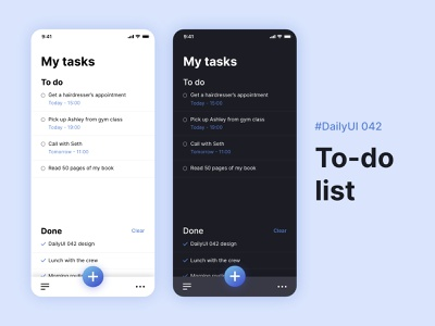 #DailyUIChallenge 042 - To-do list tasks app design mobile app to-do to-do list dailyui 042 dailyuichallenge dailyui