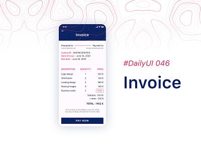 #DailyUIChallenge 046 - Invoice appdesign uidesign design invoice design freelance payment invoice dailyui 046 dailyuichallenge dailyui