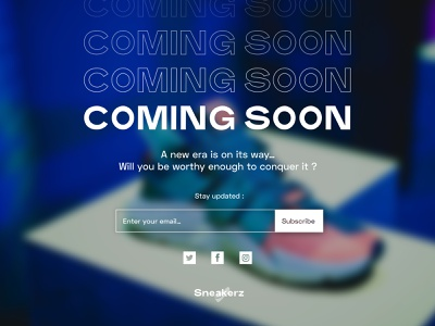 #DailyUIChallenge 048 - Coming Soon webdesign uidesign announcement product sneakers coming soon page dailyui 048 dailyuichallenge dailyui