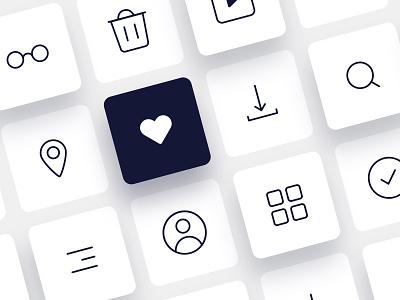 #DailyUIChallenge 055 - Icon Set design uidesign icons design icons pack icons icon set dailyui 055 dailyui dailyuichalleng