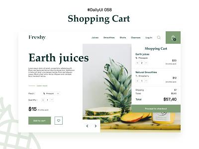 #DailyUIChallenge 058 - Shopping Cart webdesign checkout eshop cart shopping cart shopping dailyui 058 dailyuichallenge dailyui