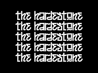 TheHardestone var2 1 logotype identity musician music hand lettering letters lettering