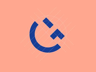 goodface G + 😉 (grid) face emoji sign brand design branding brand letter g g grid logo