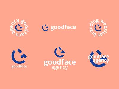 goodface G + 😉 (var) emoji agency good face logodesign logos logotype logo branding brand