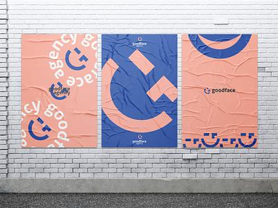 goodface G +😉 (poster) good agency smile emoji letter g g brand identity logodesign logotype logo branding brand poster