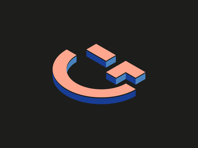 G + 😉 (Isometric) 3d emoji face brand identity branding brand logotype logo lette g isometry isometric smile