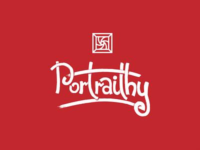 Portraithy 3 📷🖼 picture sketch dry brush brush brand identity brand logodesign logotype logo lettering frame lens portrait photo