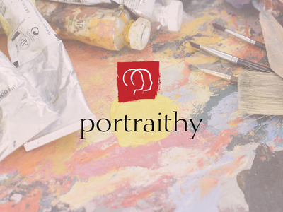 Portraithy 2 📷🖼🎨 paint dry brush brand identity brand logodesign logo frame face oil painting oil paint oil portrait photo