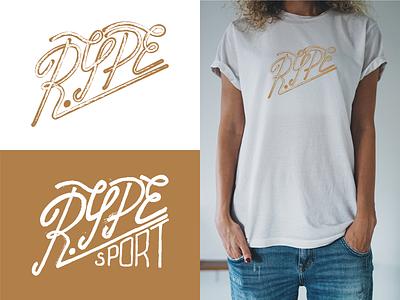 RYPE 1 t-shirt sport hand lettering handlettering hand drawn print letters lettering