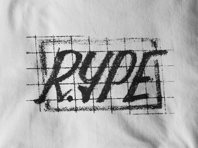 RYPE 4👕 grid clothes t-shirt print experiment hand lettering hand drawn handlettering letters letter lettering