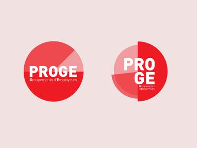 Logo  logo rouge circle typography minimal data dataviz