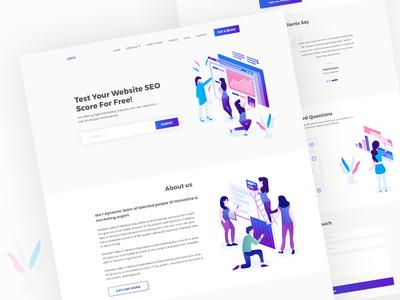 SEO Agency Landing Page Design