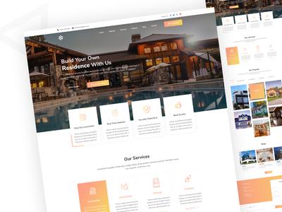 Construction Company Landing UI