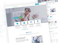 Medicine landing  Page UI