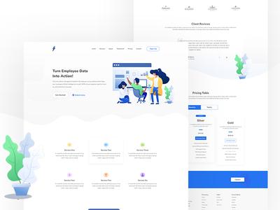 Saas Business Landing Page