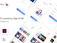 E- Commerce App UI Kit app concept e commerce app e commerce free download free app app vector agency web illustration design ux ui