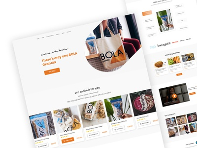 E-commerce Landing Page UI Design