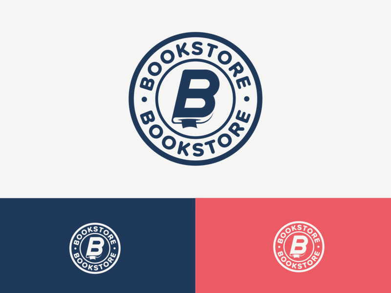 Bookstore concept badge mark logo print magazine reader read book library book store