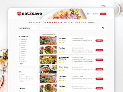 Restaurant Listing webmockup weblayout index website landing home desktop flat ux ui restaurant listing