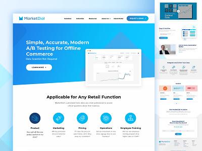 Marketdial-Retail business offline commerce webmockup flat design weblayout index website landing home desktop ux ui inventory management software business