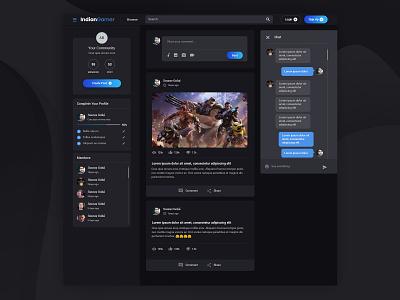 IndianGamer material design material design app webmockup weblayout index website landing home flat desktop ui ux