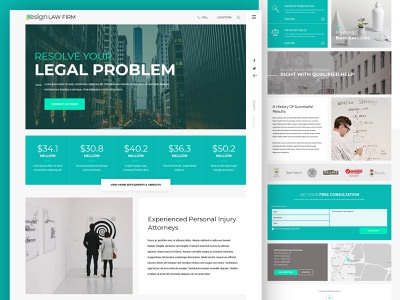 Legal 2 design lawfirm app webmockup weblayout landing index home website flat ux desktop ui