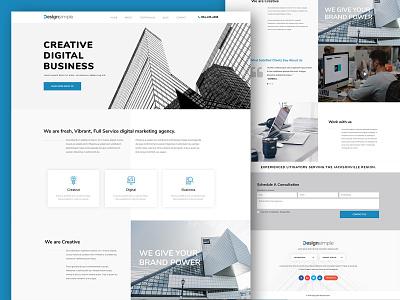 Real Estate design webmockup weblayout landing index home website flat desktop ux ui
