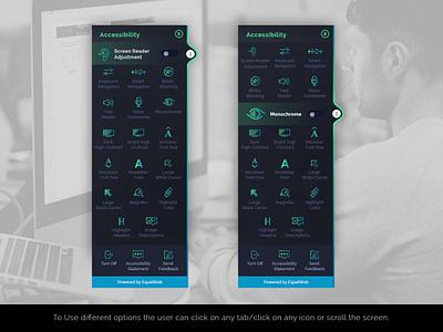 Accessibility design design app webmockup weblayout landing home flat ux ui