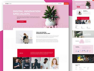 Digital Innovation design app webmockup weblayout index website landing home desktop flat ux ui