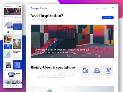 architecture_sipmle dribbble design app webmockup weblayout index website landing home desktop flat ux ui