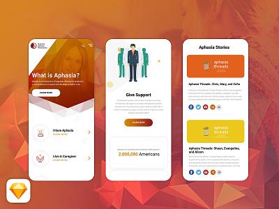 HealthCareGiver_Responsive_mobile vector design app landing home desktop flat ux ui
