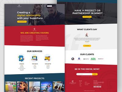 Digital Service webmockup weblayout index website landing home desktop flat ux ui