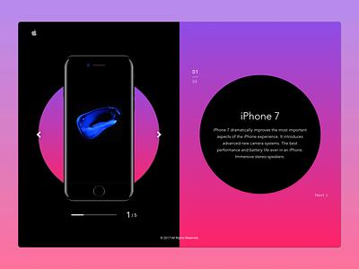 iPhone 7 presentation concept iphone7 design dribbble web ux ui