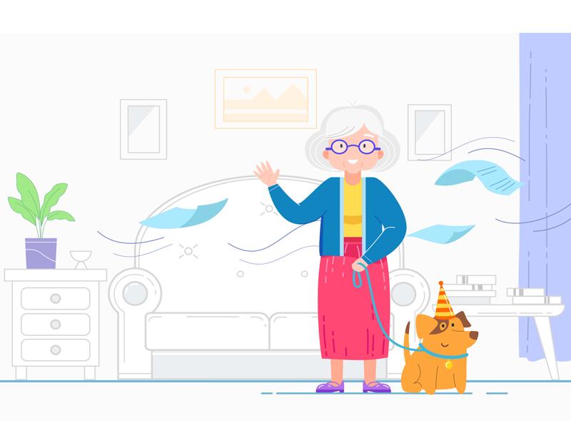 Joan 2d animation explainer video illustration flat